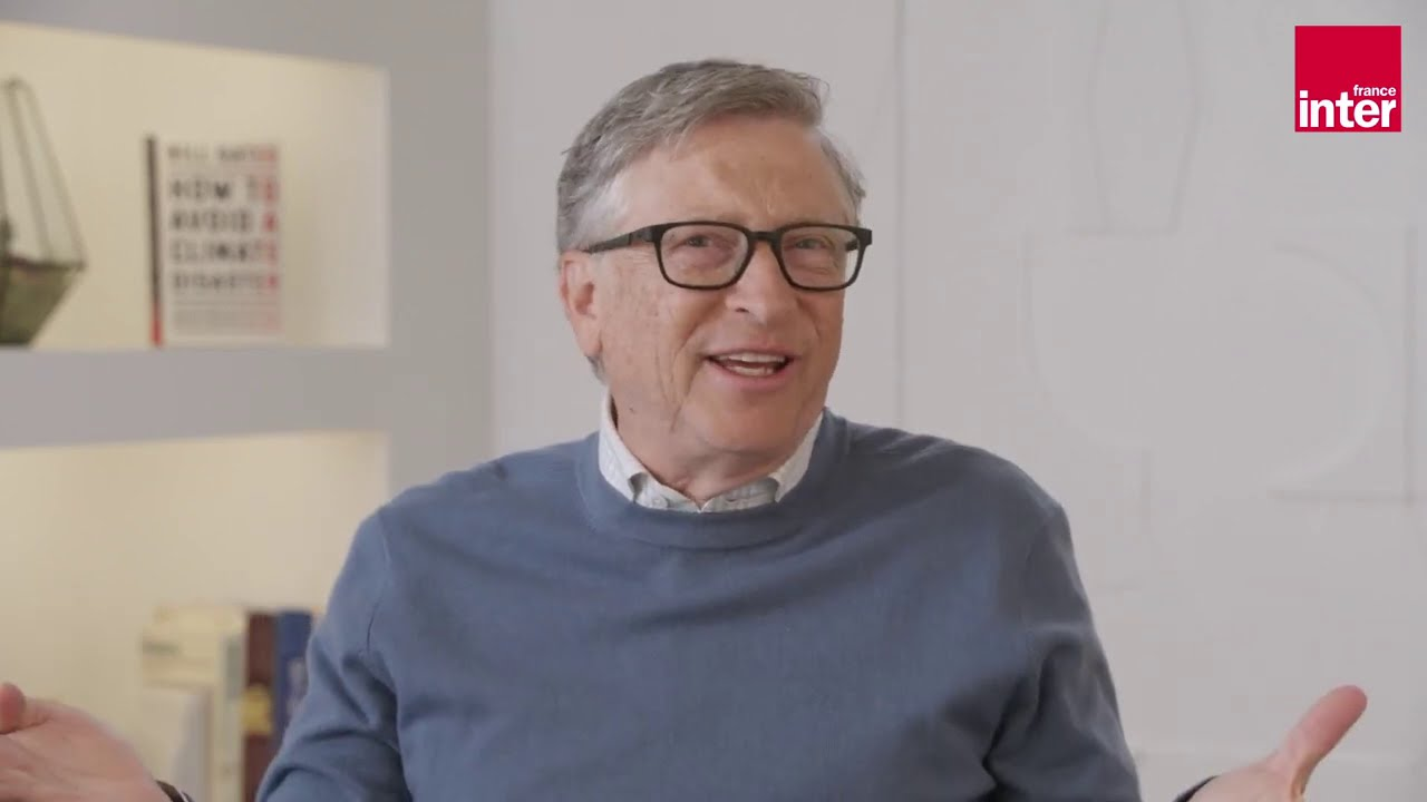 Bill Gates, interview dans Le Monde et sur France Inter